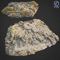 3D scanned rock cliff v