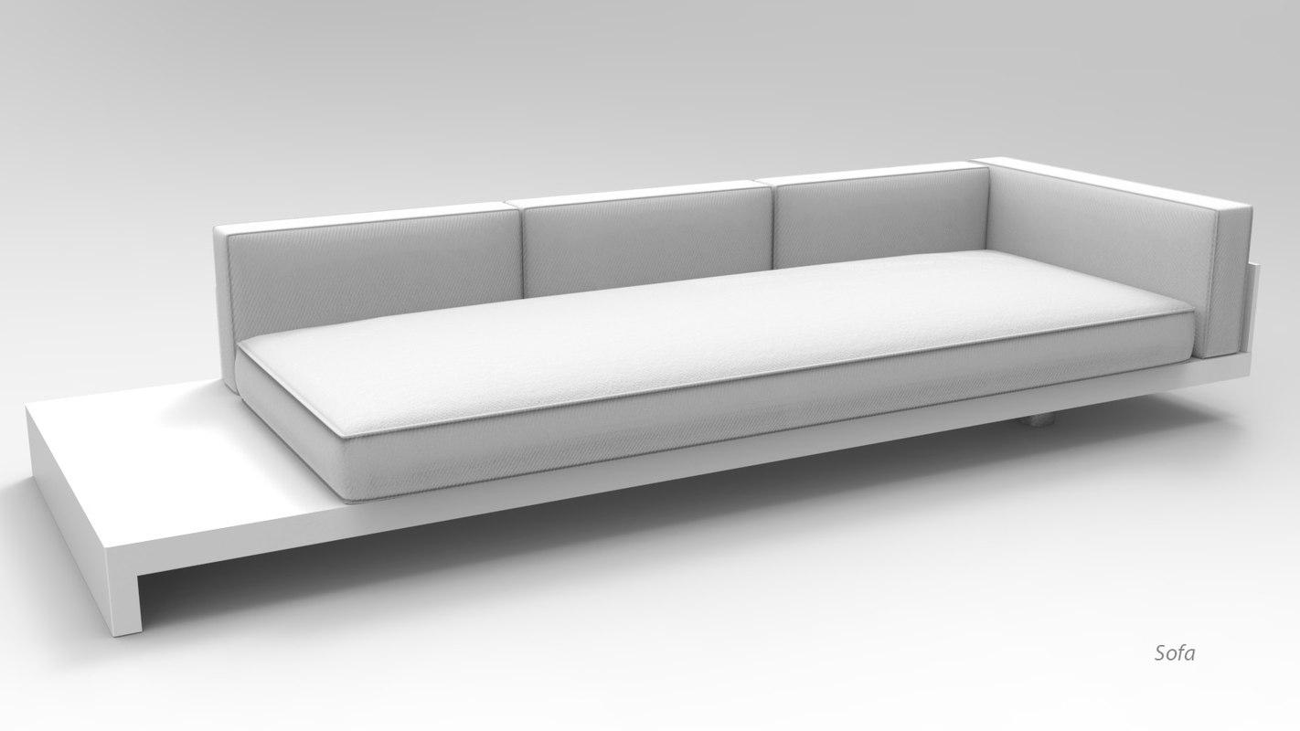 sofa garden 3D model
