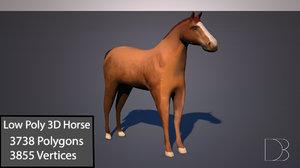 horse materials 3D model