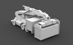 forklift fork lift 3D