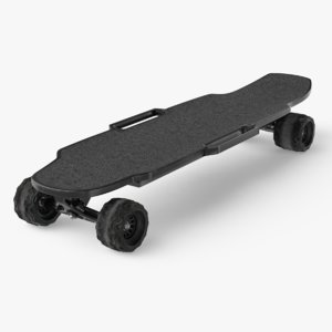 3D electric skateboard ar model