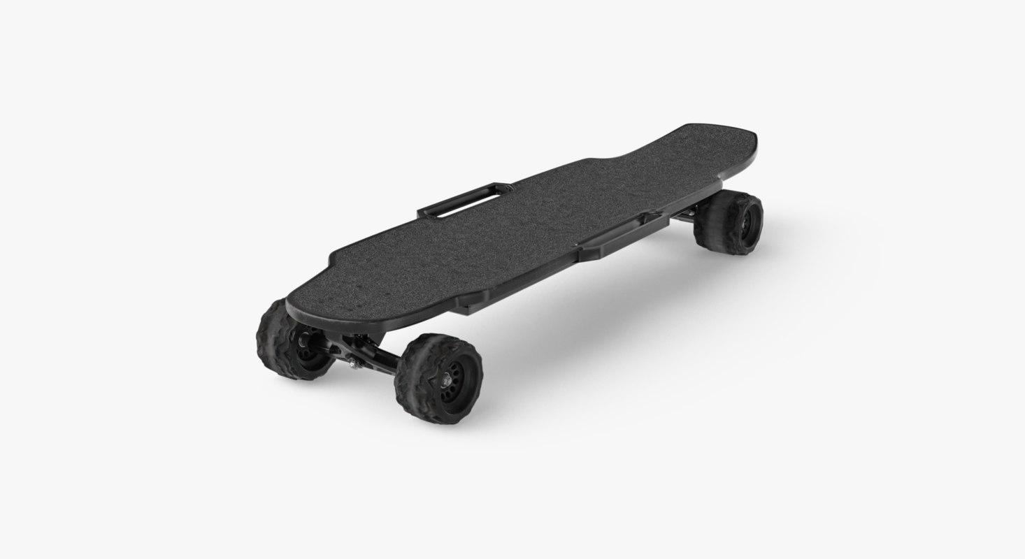 3D electric skateboard ar model