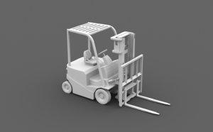 3D forklift elevator truck model