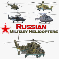 Russian Military Helicopters 3D Models Collection