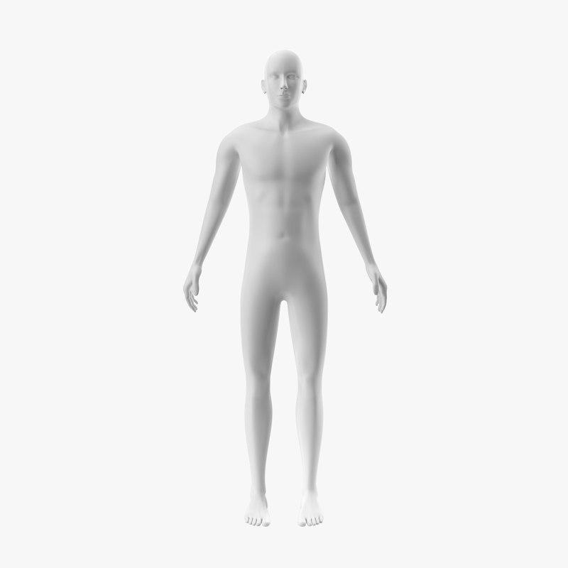 3D model gender neutral rigged human