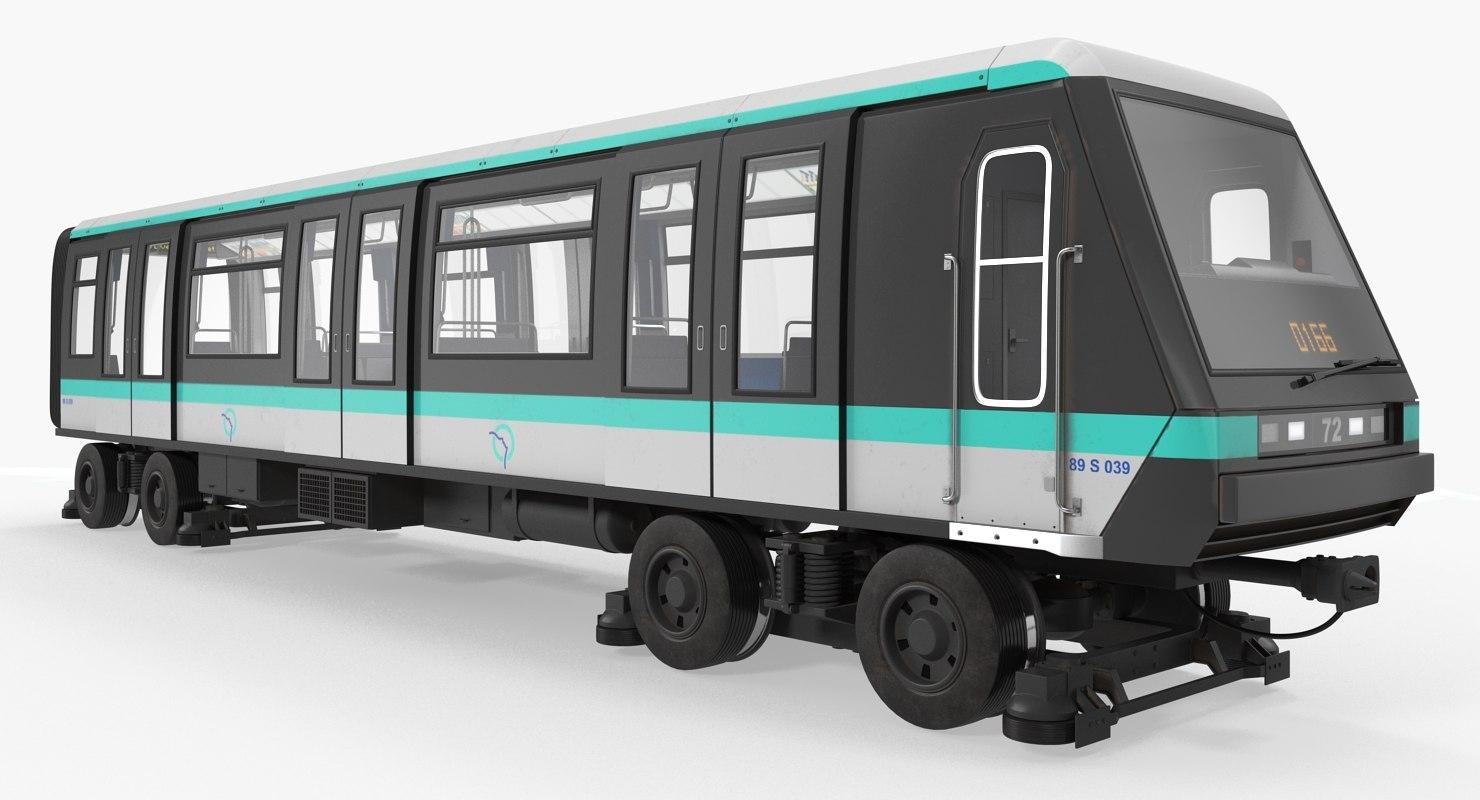 3D mp 05 train locomotive model