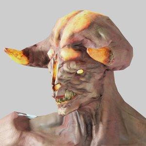 3D volcano demon