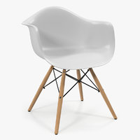 modern shell chair 3D model