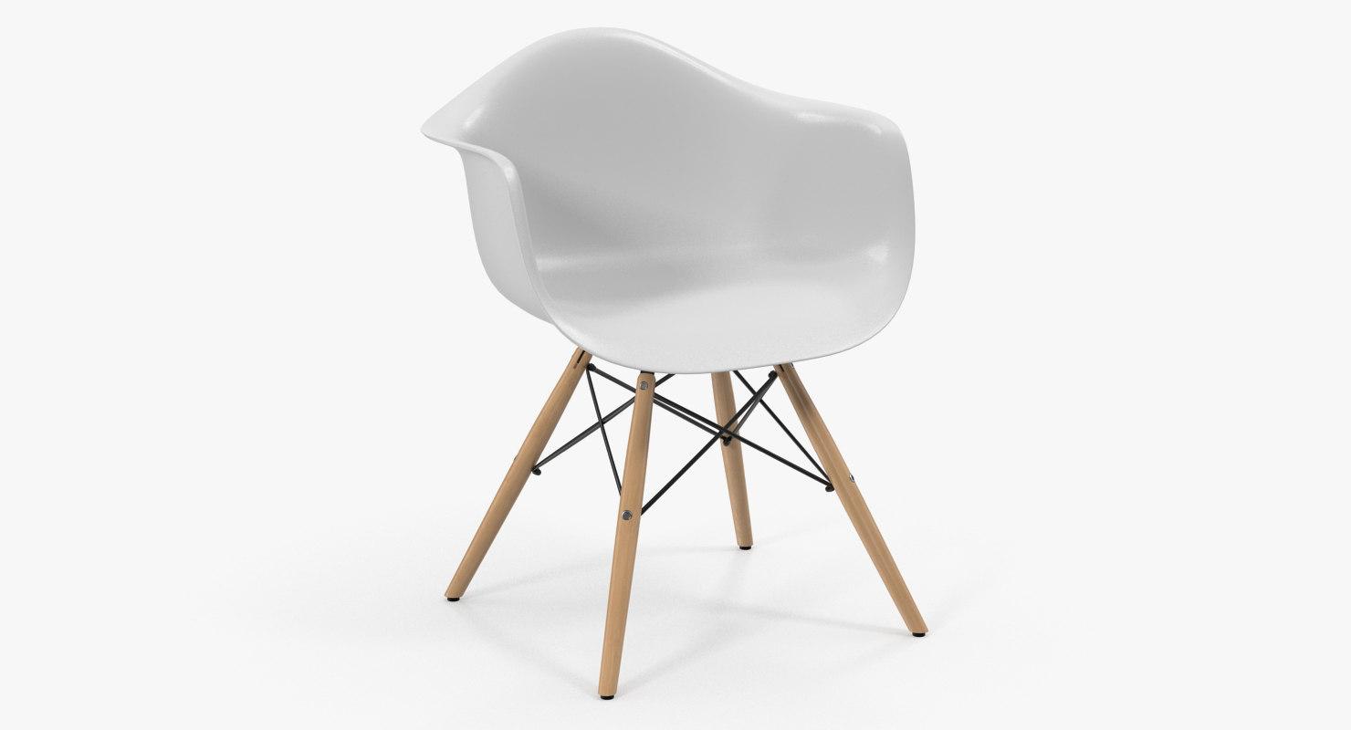 modern shell chair 3D model