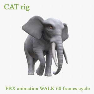 3D elephant walk model
