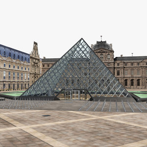 louvre build 3D