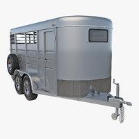 3D model livestock trailer calico