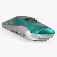 3D japanese shinkansen e5 speed train