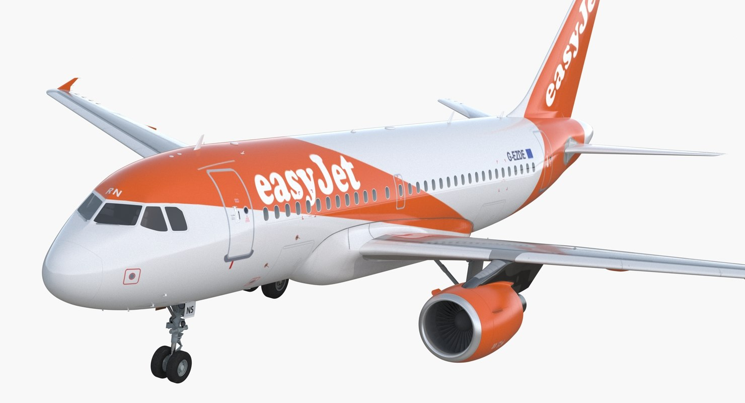 airbus a319 easyjet airline 3D