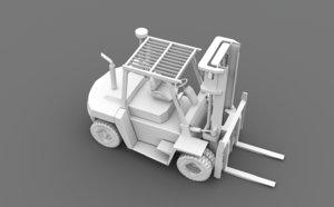 fork-lift fork lift forklift truck 3D model