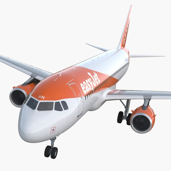 3D airbus a320 easyjet airline