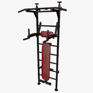 3D model swedish ladder