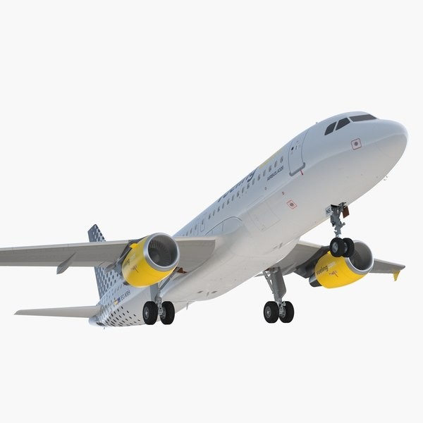 3D airbus a320 vueling airlines