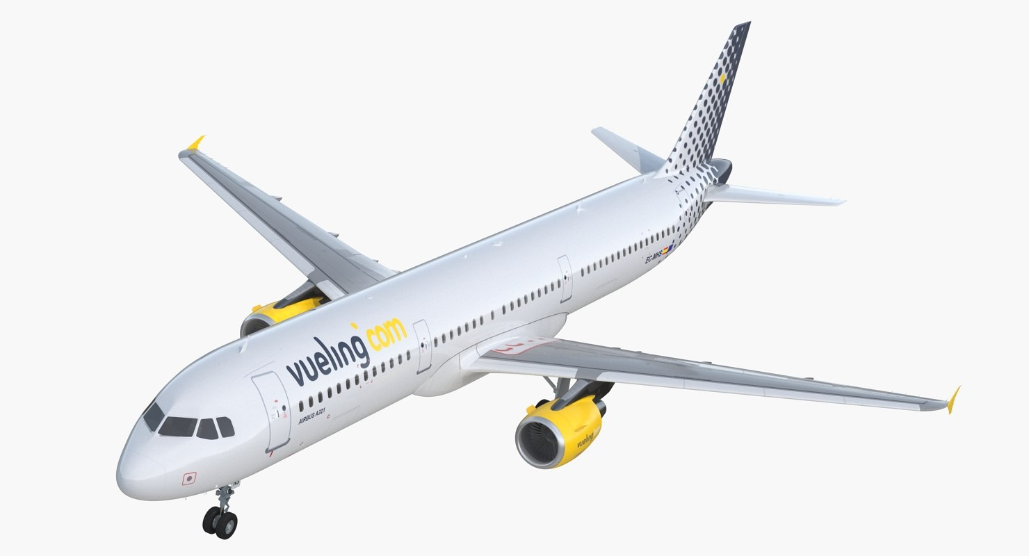 3D airbus a321 vueling airlines model
