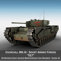 3D model churchill mk iii -