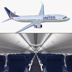 boeing 737-900 interior cockpit 3D