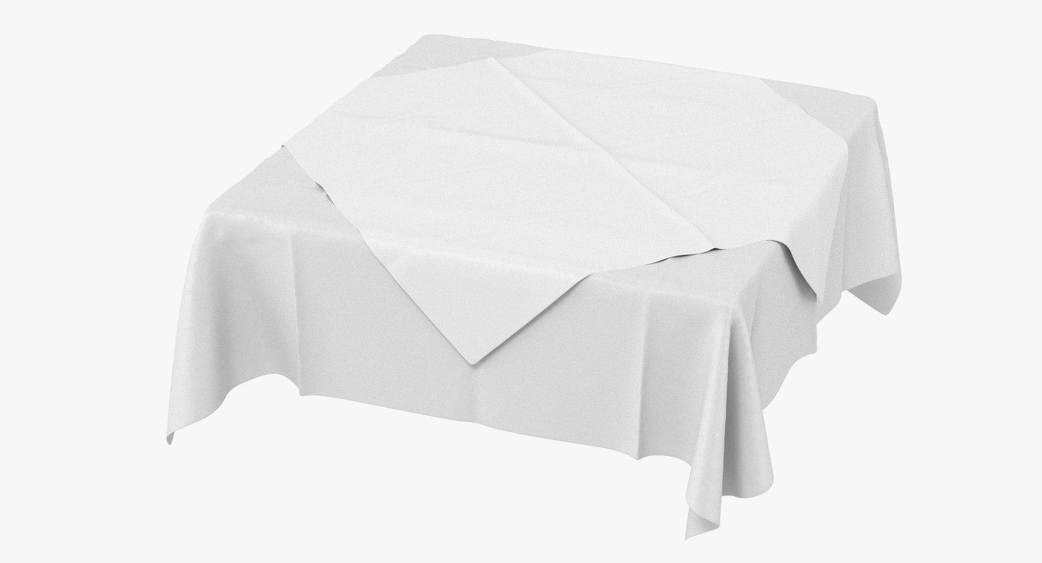 3D model tablecloth cloth