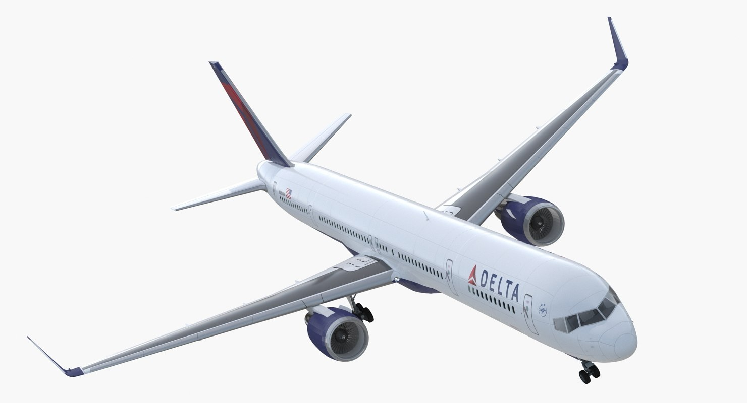 Boeing 757 300 With Interior And Cockpit Delta Air Lines 3d Model
