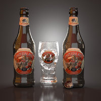 3D imperial red beer glass model
