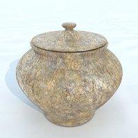 3D model pot antique 1