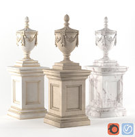 Classic vase for decorating the facade