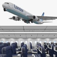 boeing 767-400 interior condor 3D model