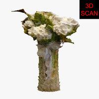 3D model scan flower