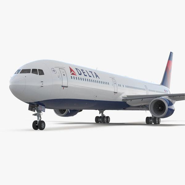 boeing 767-400 interior delta 3D