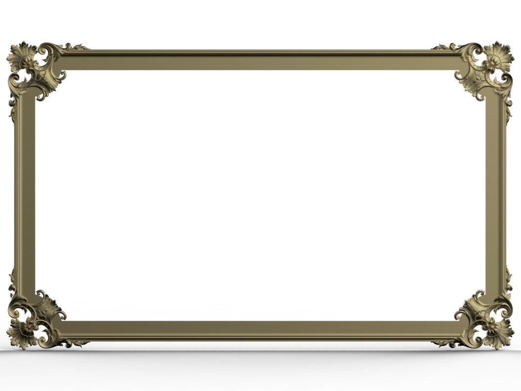 frame baroque 3D model