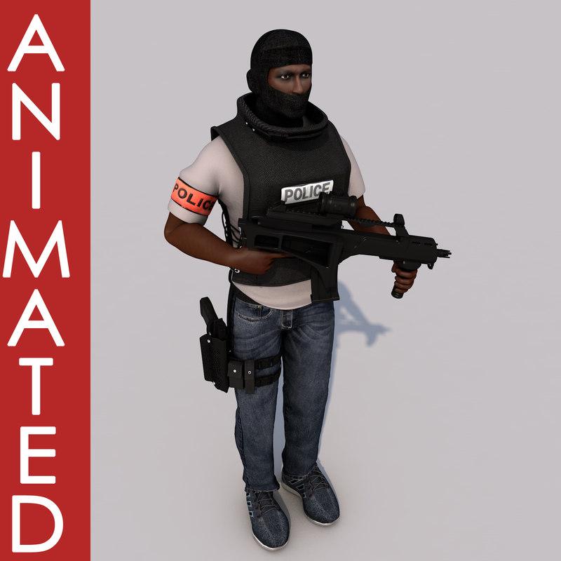 bri officer 3D model