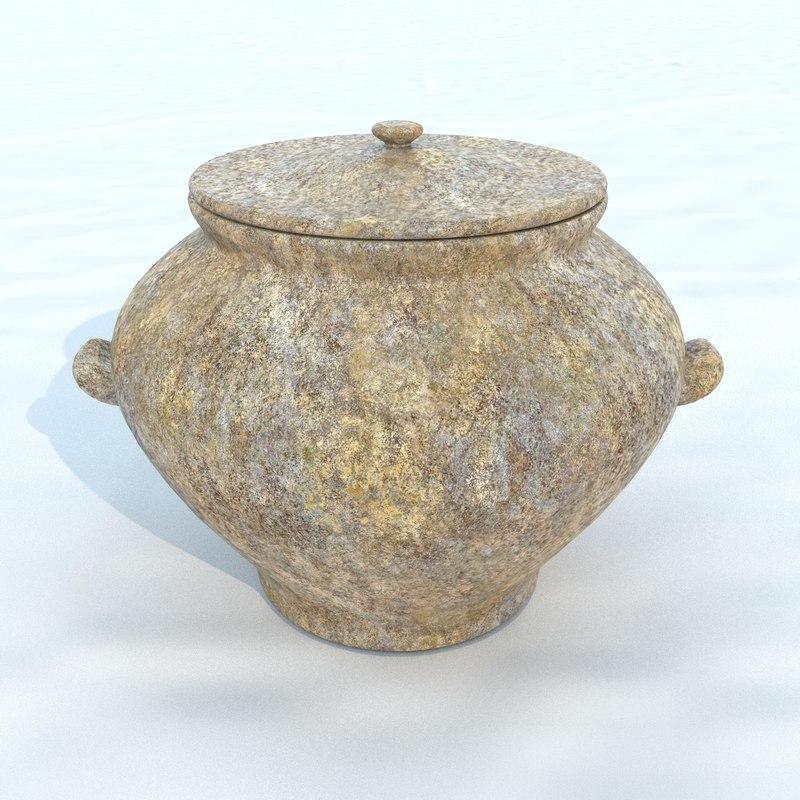 3D pot antique 2 model