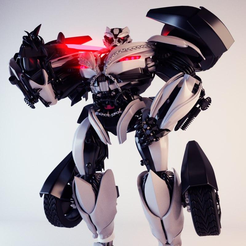 robot car 3D model