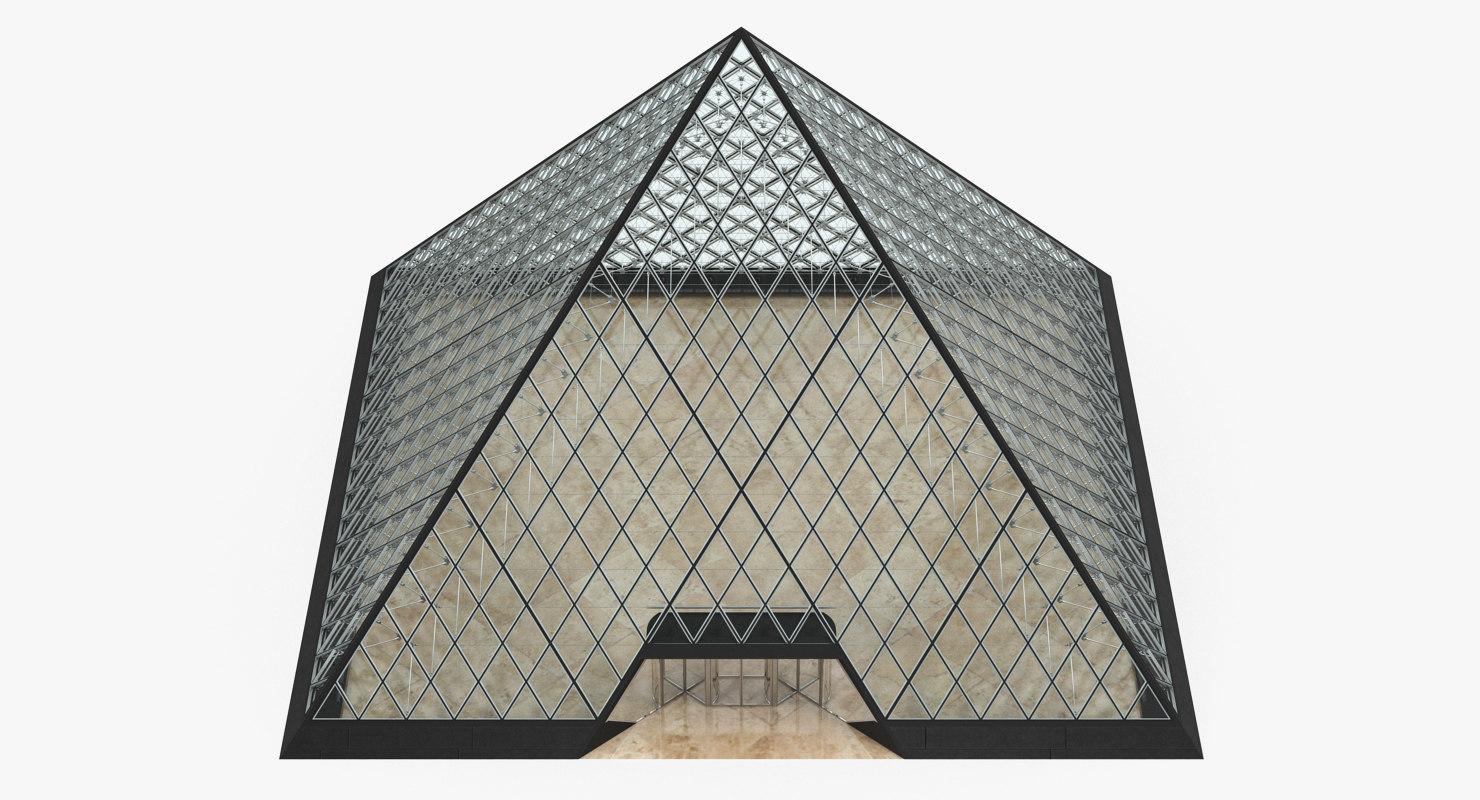 glass pyramid 3D