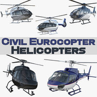 civil eurocopter helicopters ec 135 3D model