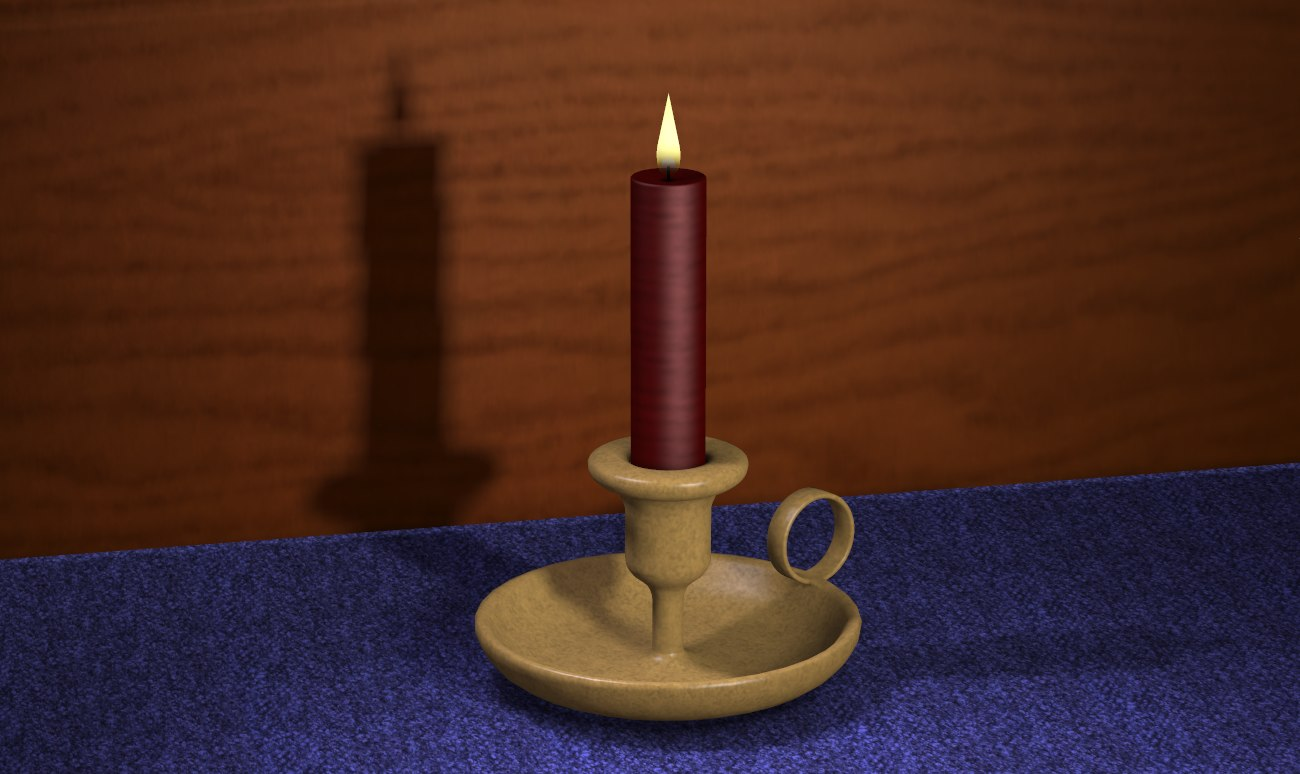 3D candlestick candle