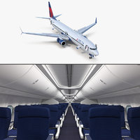 boeing 737-900 interior cockpit 3D model