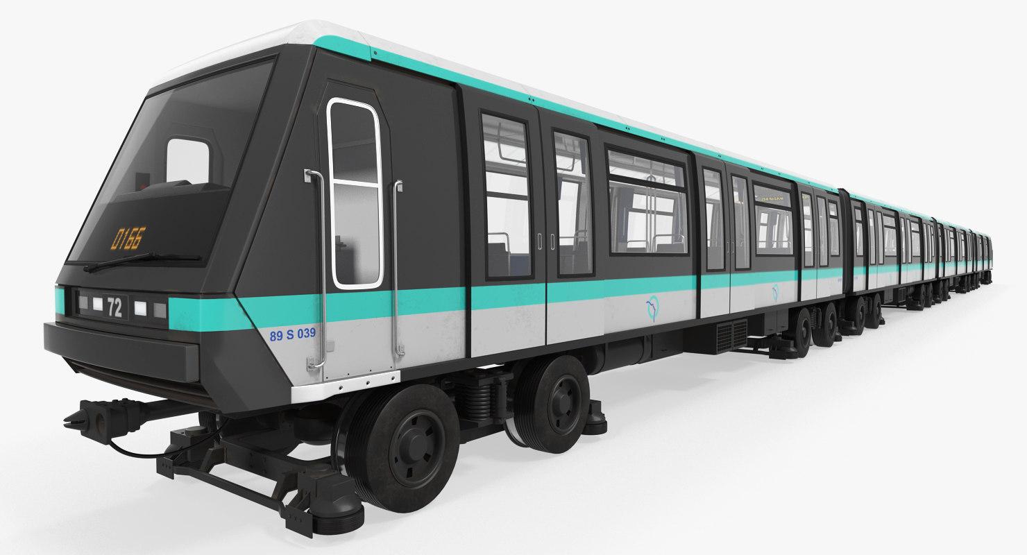 paris subway train mp 3D model