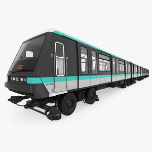 paris subway train mp 3D model