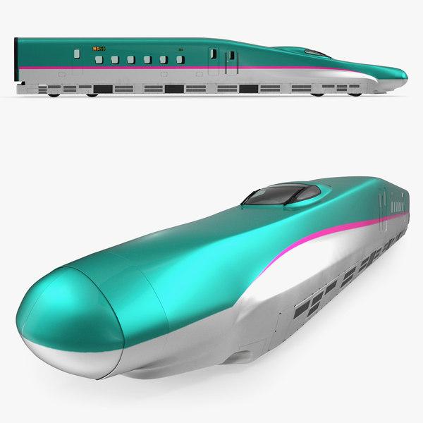 3D speed train shinkansen e5