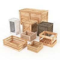 wooden crates model