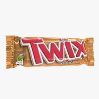 3D twix chocolate bar