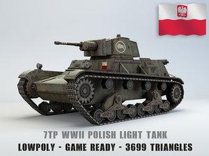 7tp light tank polish 3D