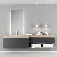 3D qi bathroom furniture set model