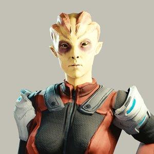 3D female alien