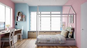 kid room 3D model